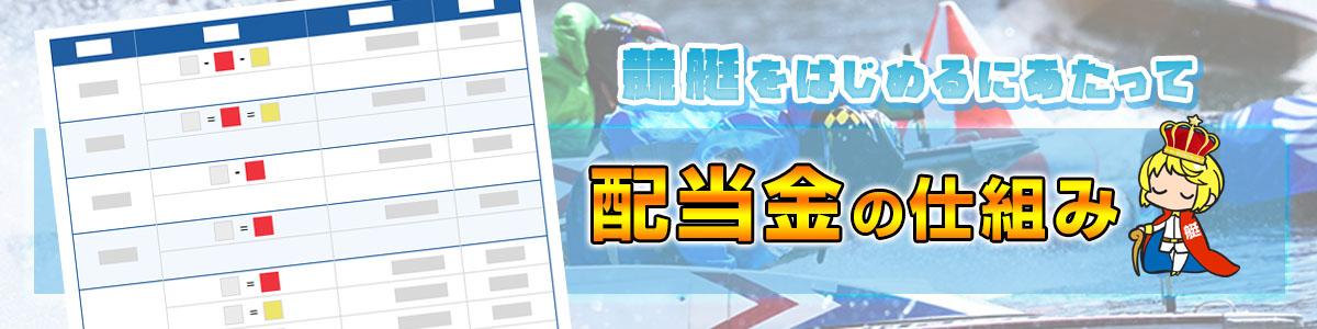 競艇(ボートレース)の配当金の仕組み