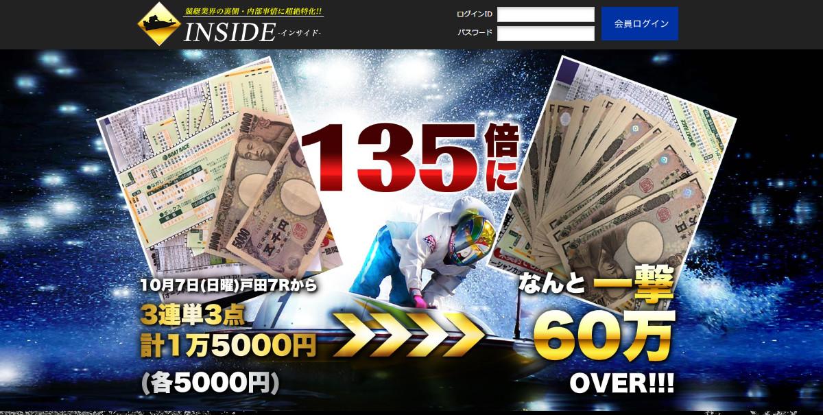 INSIDE(インサイド)【口コミ・実績・安全度・プラン】を実際に検証!
